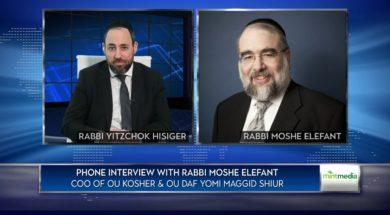 Shortage of Kosher Food?Rabb Moshe Elefant, COO of OU Kosher
