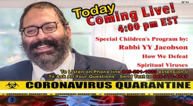 Special Children's Program – Rabbi YY Jacobson – How Do We Defeat Spiritual Viruses