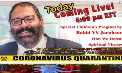 Special Children's Program – Rabbi YY Jacobson – How Do We Defeat Spiritual Viruses