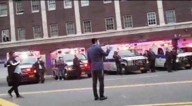 NYPD, Flatbush Shomrim & Others Saluting Flatbush Hatzolah